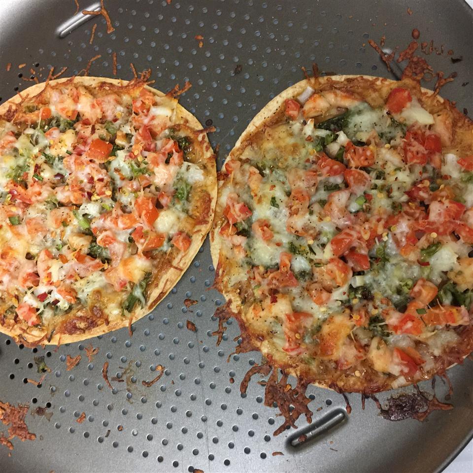BBQ Chicken Tortilla Pizza Queenie Huynh
