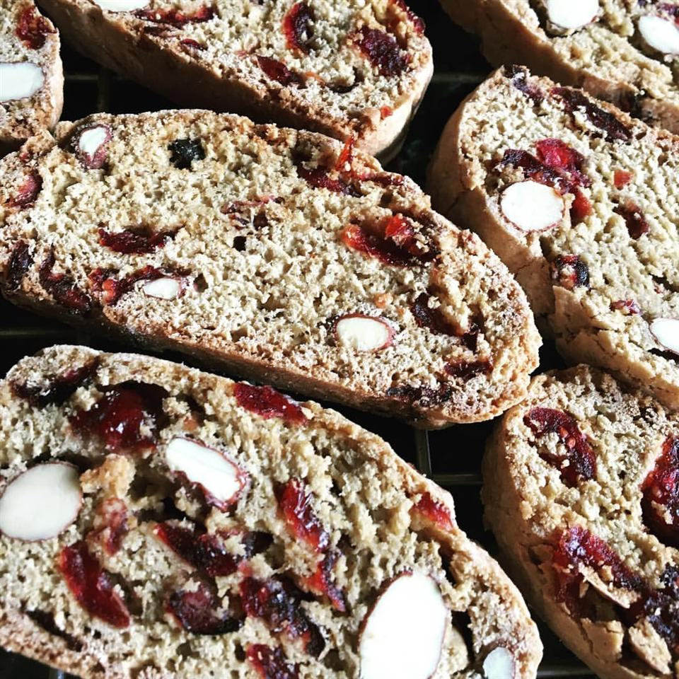 Cranberry Almond Biscotti Pinky Chang
