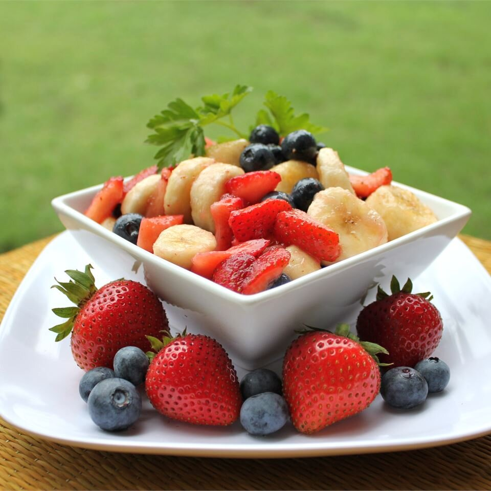 red white and blueberry fruit salad recipe