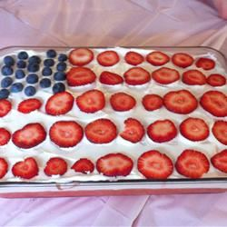 Wave Your Flag Cheesecake