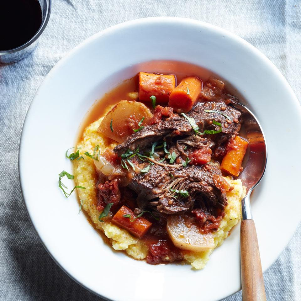 The spice blend in this healthy beef stew recipe--cinnamon, allspice and cloves--may conjure images of apple pie, but the combo is a great fit in savory applications too. Serve over creamy polenta or buttered whole-wheat egg noodles.