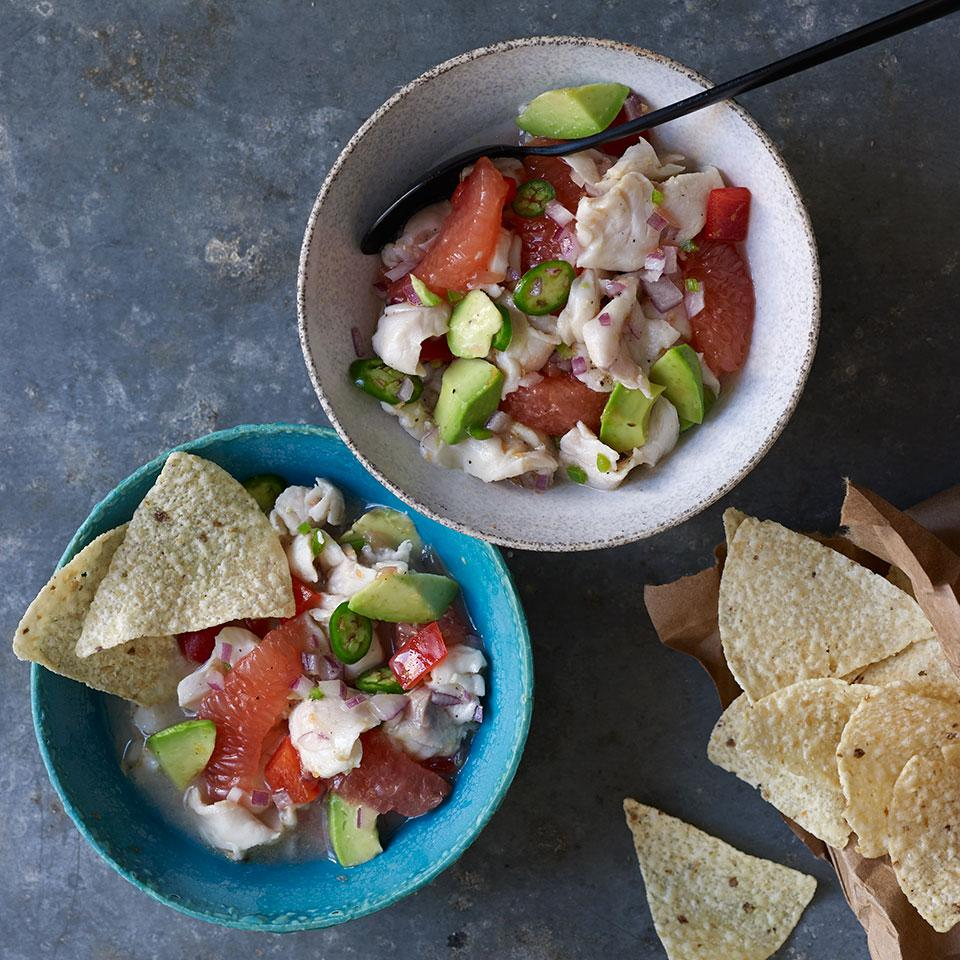 Grapefruit & Red Snapper Ceviche Robb Walsh
