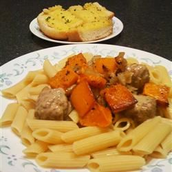 Pasta with Roasted Butternut Squash and Sage Raquel