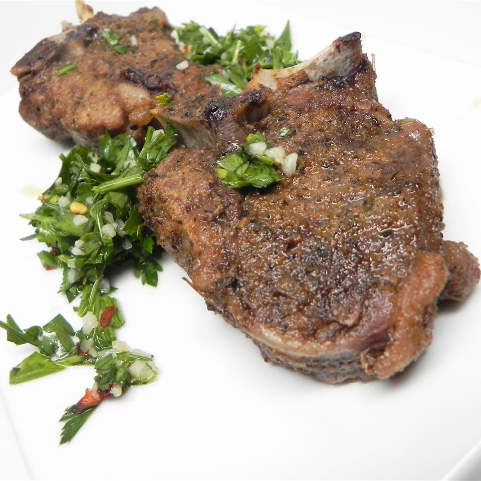 Lamb Shanks with Cilantro Sauce