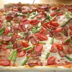 Bacon Asparagus Pizza pamela