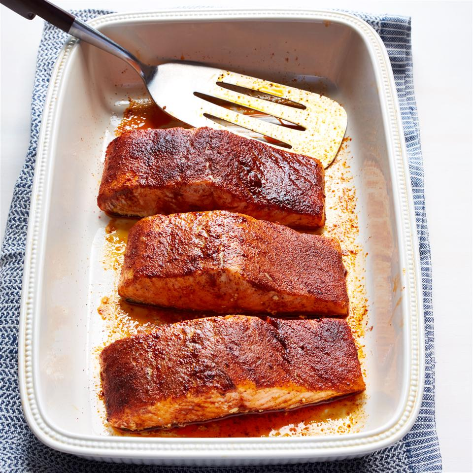 Jacob's Grilled Cajun Salmon with Roasted Fingerling Potatoes Allrecipes Magazine