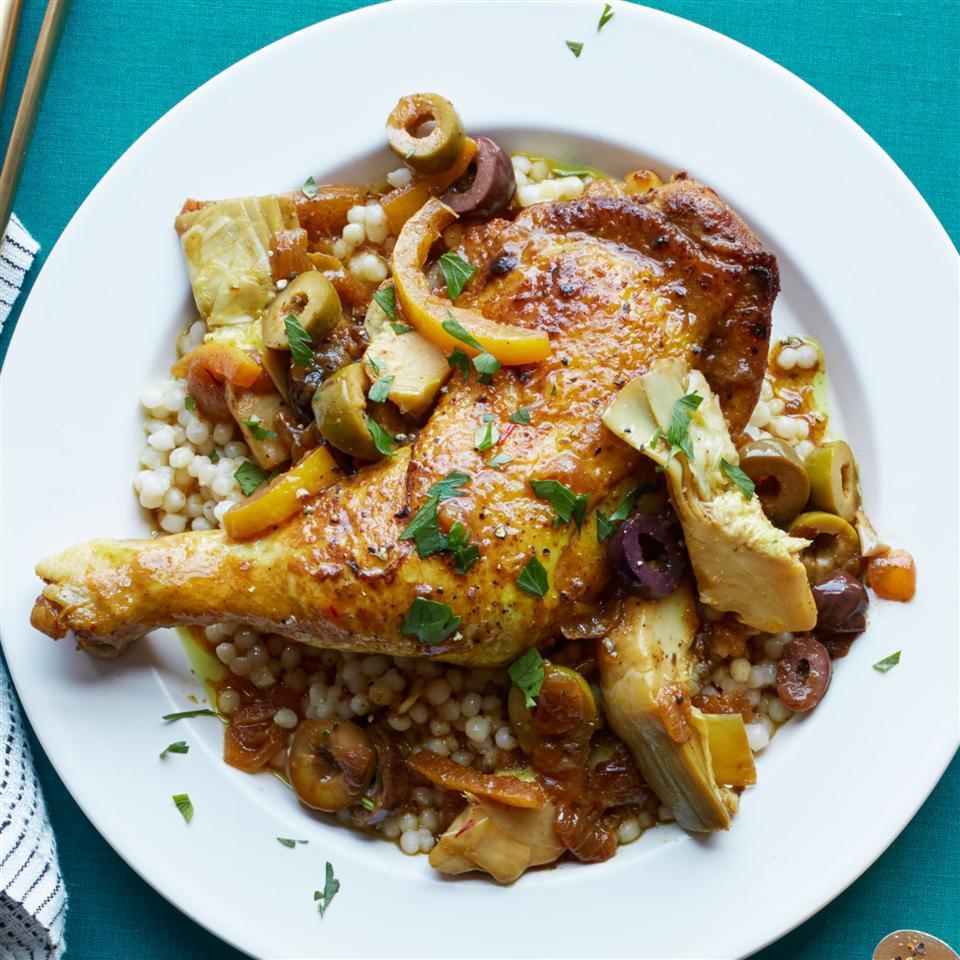Moroccan Chicken with Saffron and Preserved Lemon Allrecipes Magazine