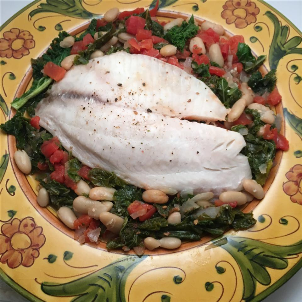 Tilapia with White Beans and Kale Skillet Howard