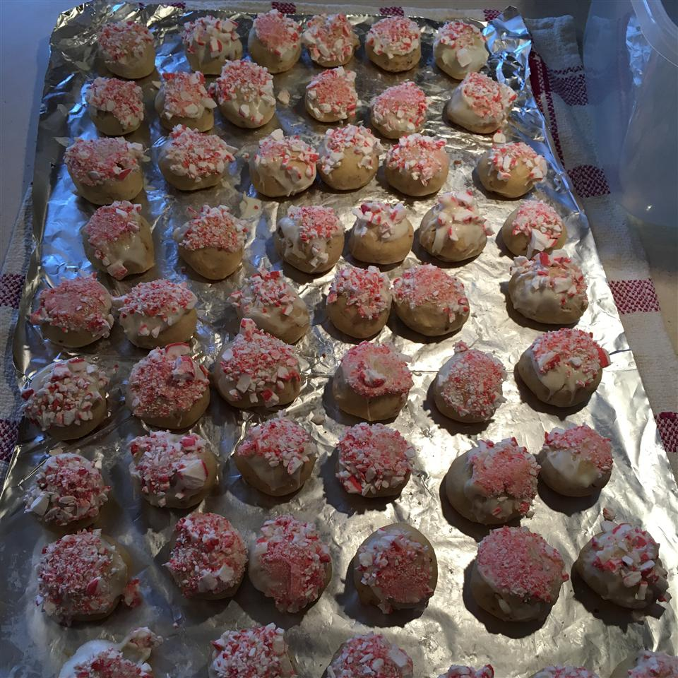 Candy Cane Snowball Cookies Sue Boeding