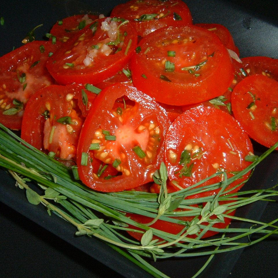Sliced Tomatoes with Fresh Herb Dressing