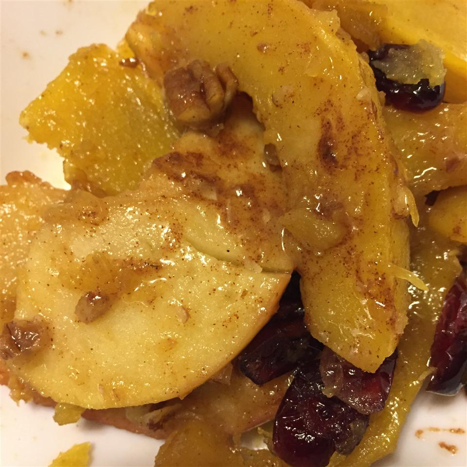 Butternut Squash with Apple and Cranberries Rene Re