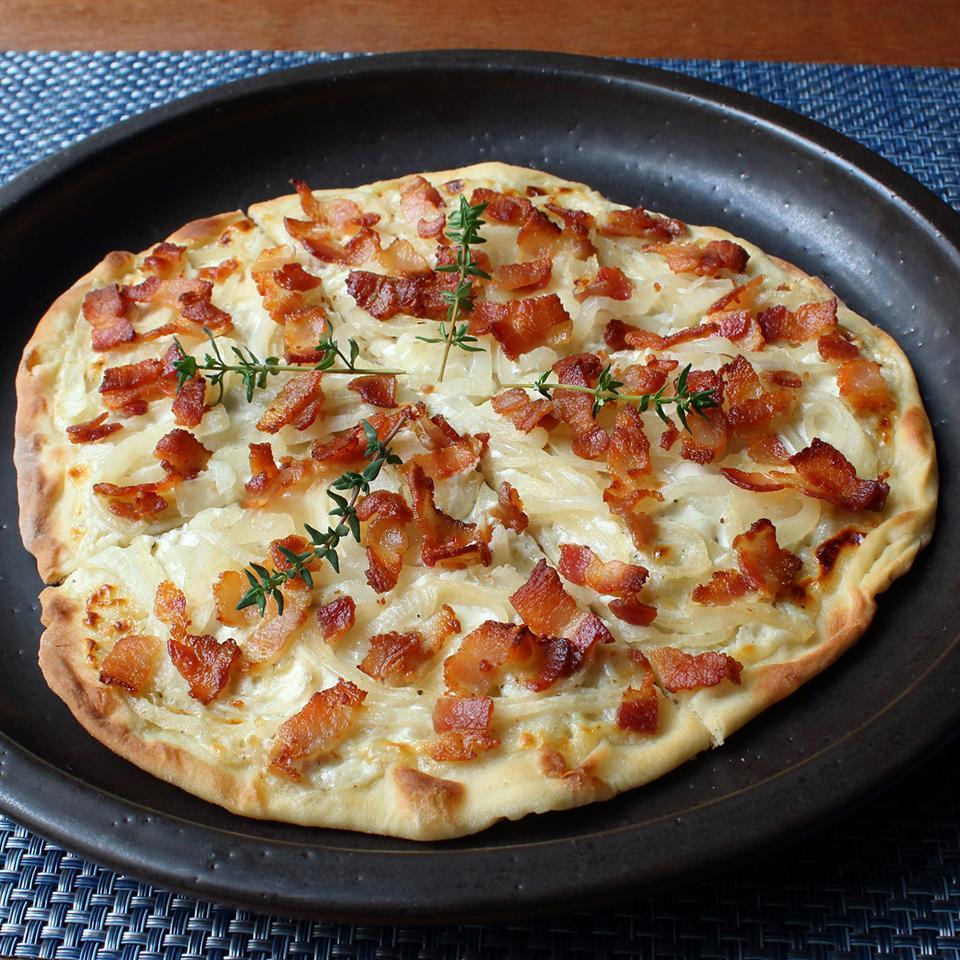 Tarte Flambee (Alsatian Bacon & Onion Tart)