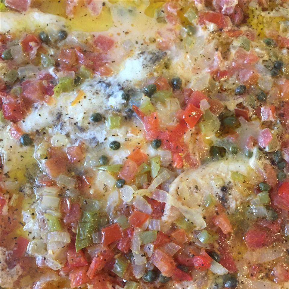 Tilapia with Green Tomato Tapenade