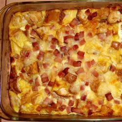 French Ham Cheese and Egg Fondue Casserole Dave G