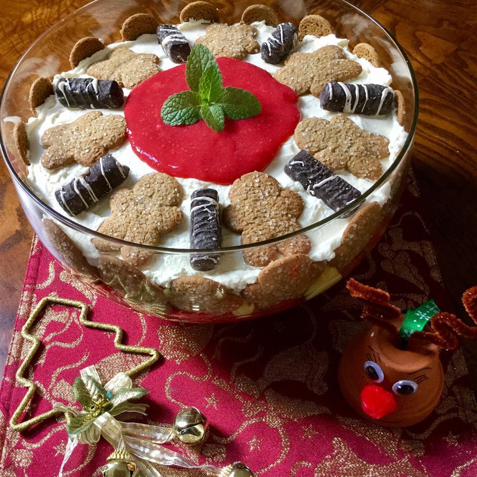 Eggnog Gingerbread Trifle