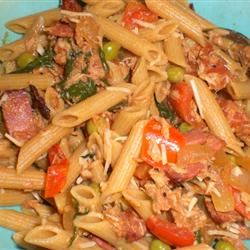 Penne with Pancetta, Tuna, and White Wine kellieann