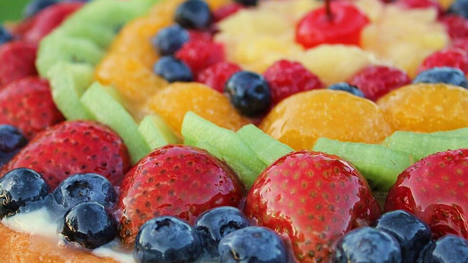 Fruit Galore Sponge Cake