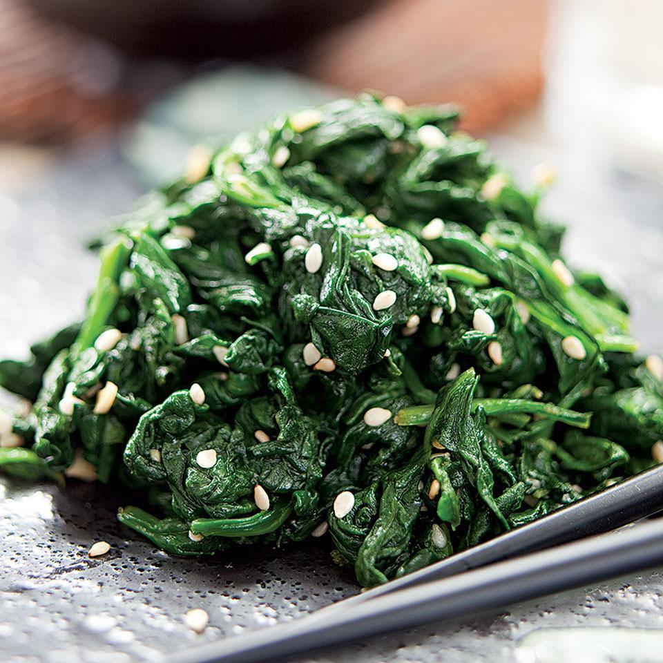 Sesame-Seasoned Spinach Jamie Purviance