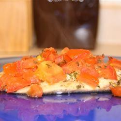 Easy Tilapia with Wine and Tomatoes Christina Raimondi