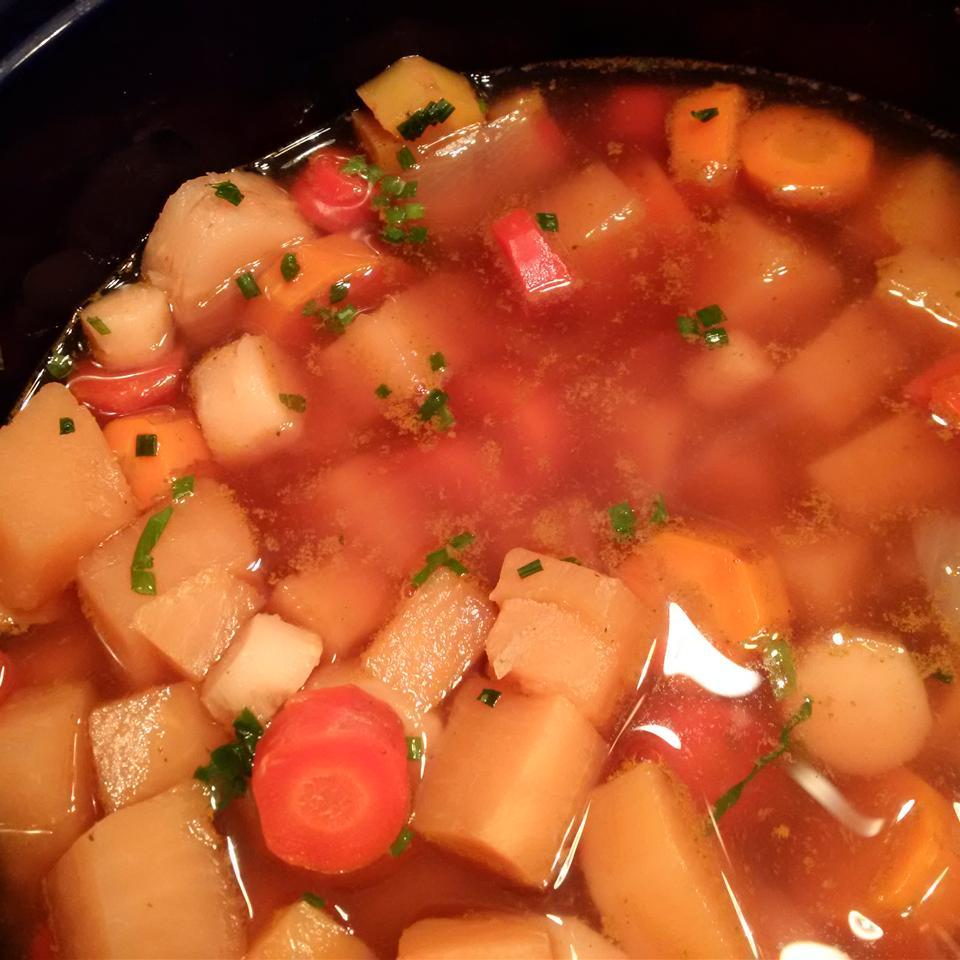 Slow Cooker Root Veggie Winter Soup Tamara A