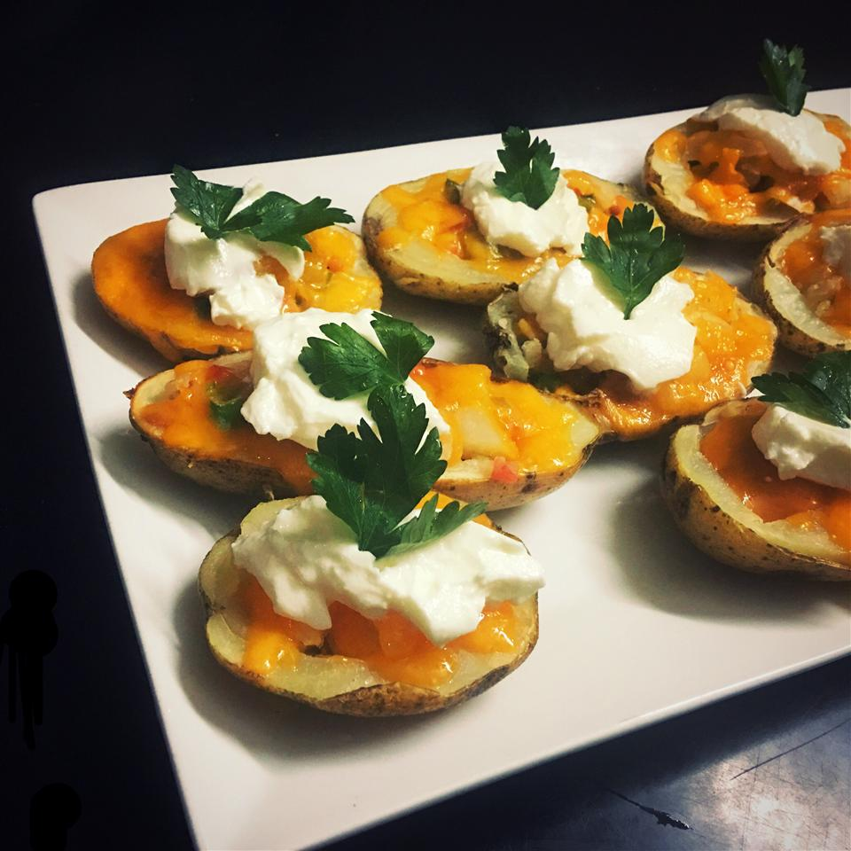 Super Loaded Chili Potato Skins Rusul