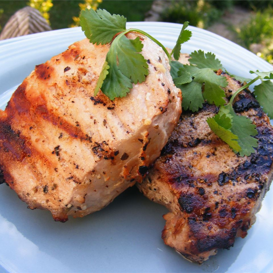 Grilled Lemon Herb Pork Chops DOREENBUCH