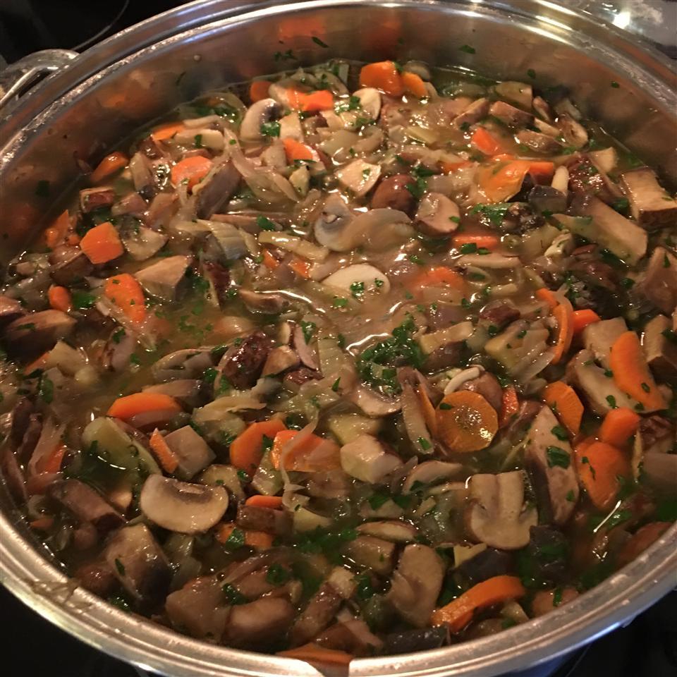 Mushroom and Artichoke Soup Lori Policastro