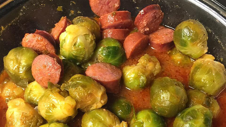 Dressed Up Brussels Sprouts