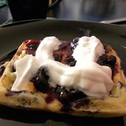 Blueberry Waffles with Fast Blueberry Sauce Tara Johnson