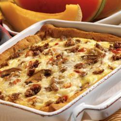 Crescent Roll Brunch Pizza