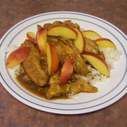 Sticky Orange Chicken with Nectarines oldiesgal