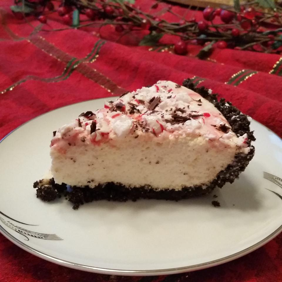 Peppermint Bavarian Cream Pie