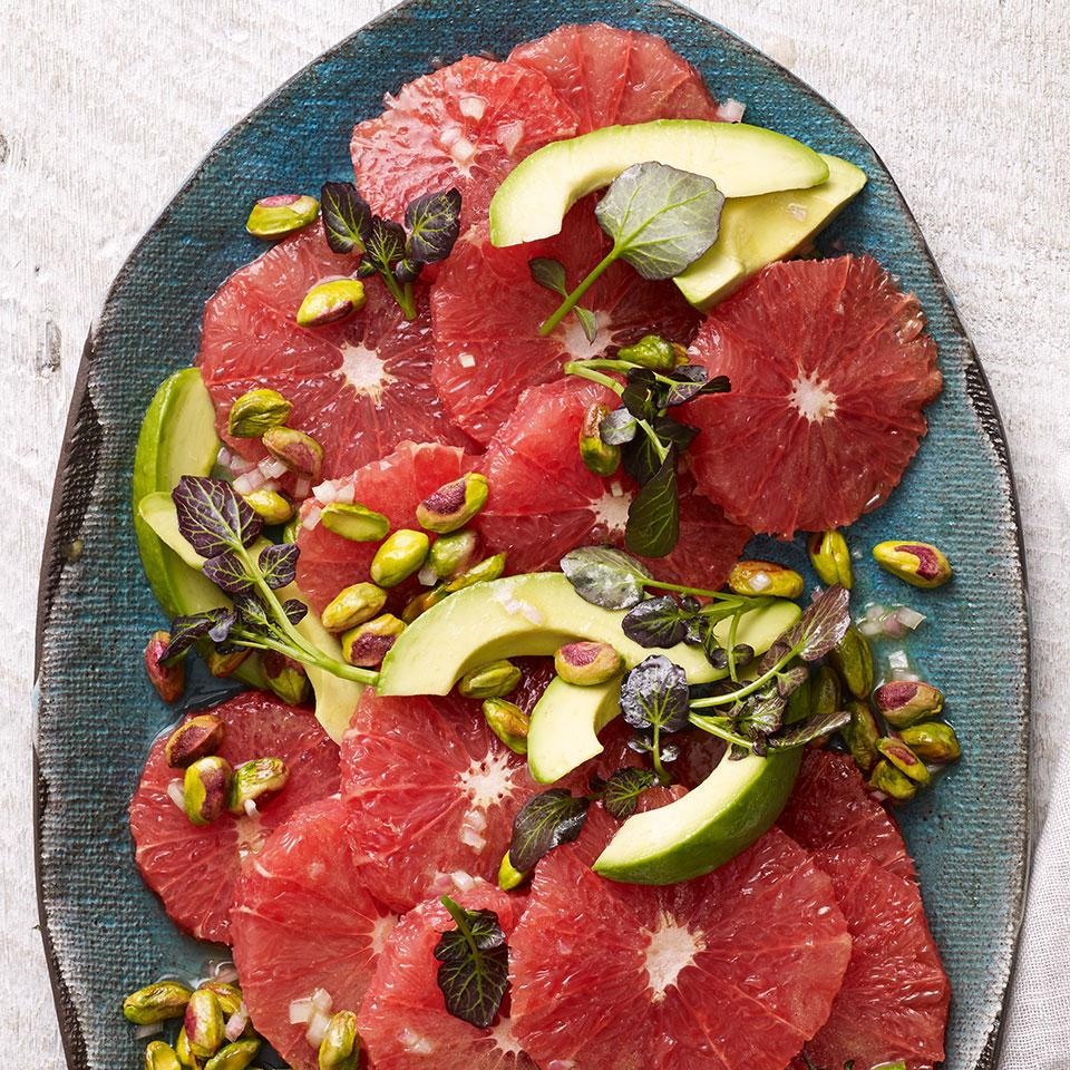 Red Grapefruit Salad with Avocado & Pistachios Trusted Brands