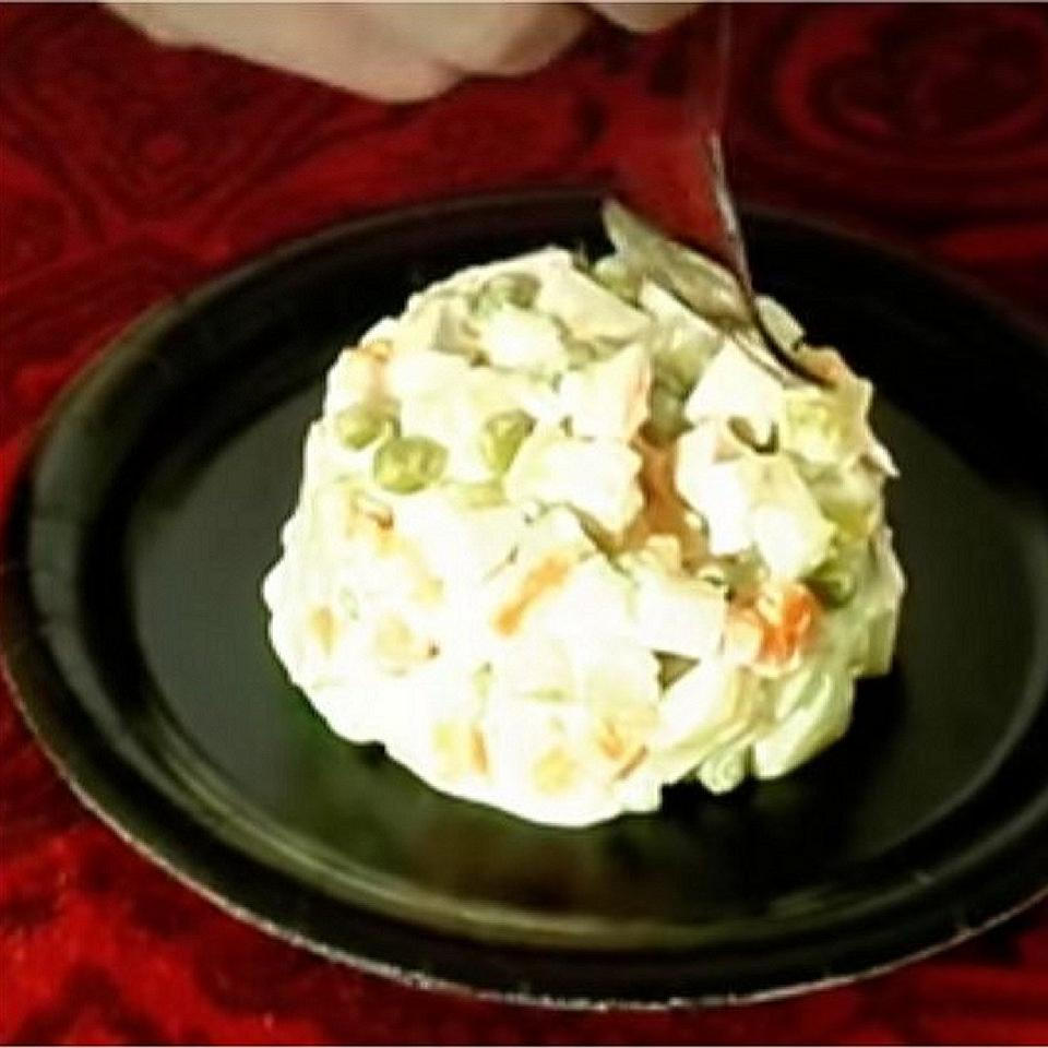 Russian Potato and Beef Salad 'Olivier'