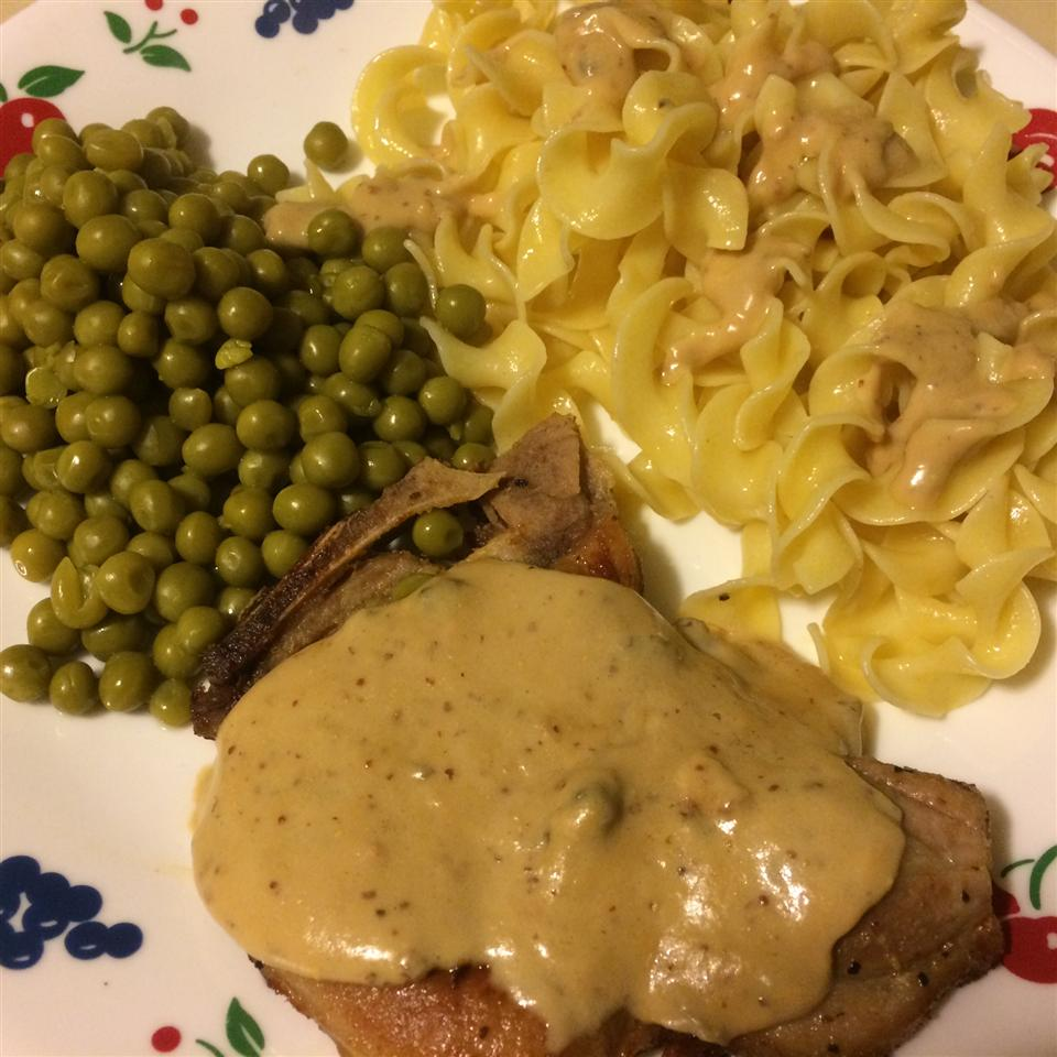 Creamy Mustard Pork Chops Amy