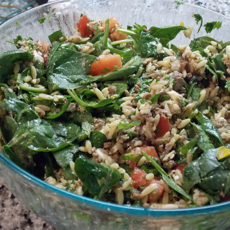 Mediterranean Orzo Spinach Salad Casey McDonald Smith