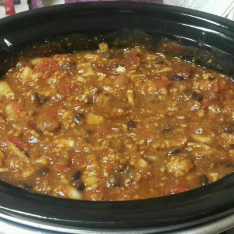 Slow Cooker Pumpkin Turkey Chili Thomas Vrable