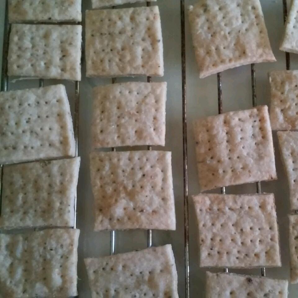 Crispy Rosemary Sea Salt Flatbread Crackers Liz Meyer