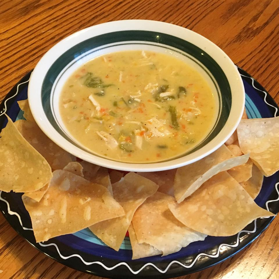 Green Chile Chicken Corn Chowder snowwhiteRN