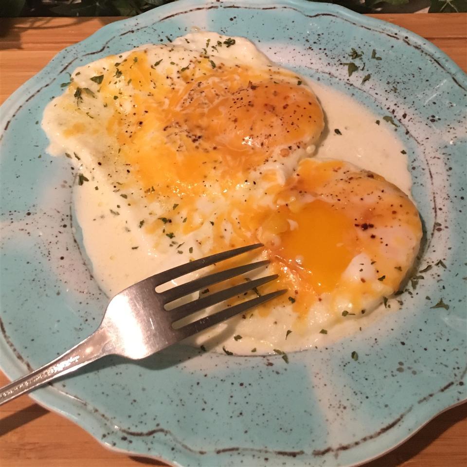 Rich Butter Cream-Poached Eggs Paula