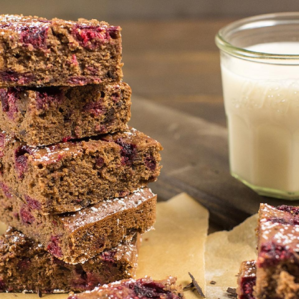 Chocolate Chunk Berry Brownies So Delicious® Dairy Free