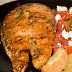 Molasses-Glazed Salmon Christos&Lesya