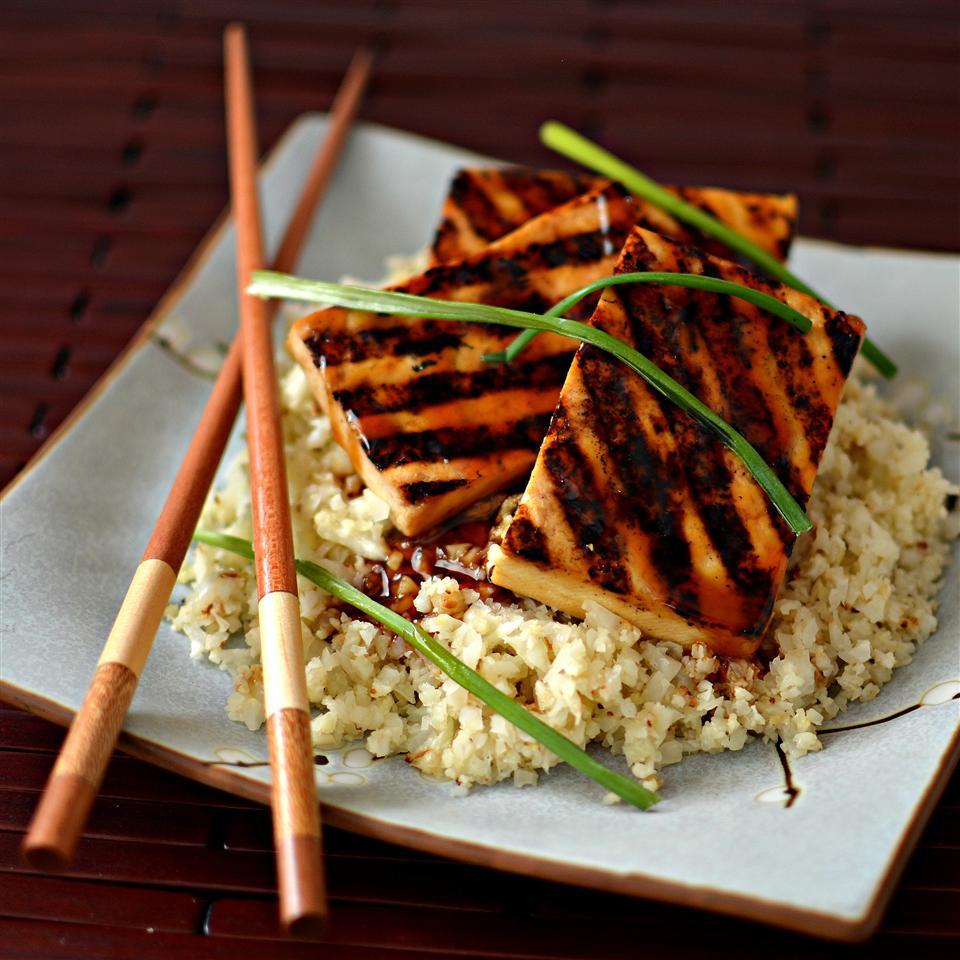 Grilled Teriyaki Tofu with Roasted Cauliflower Rice bd.weld