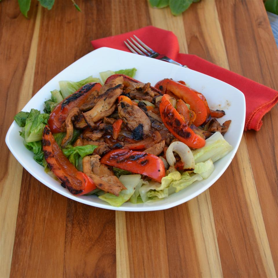Grilled Chicken Fajita Salad Baking Nana
