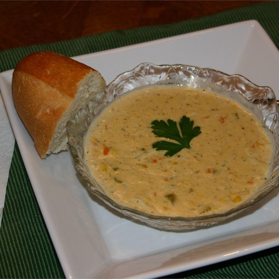 Cajun Corn and Crab Bisque Karen