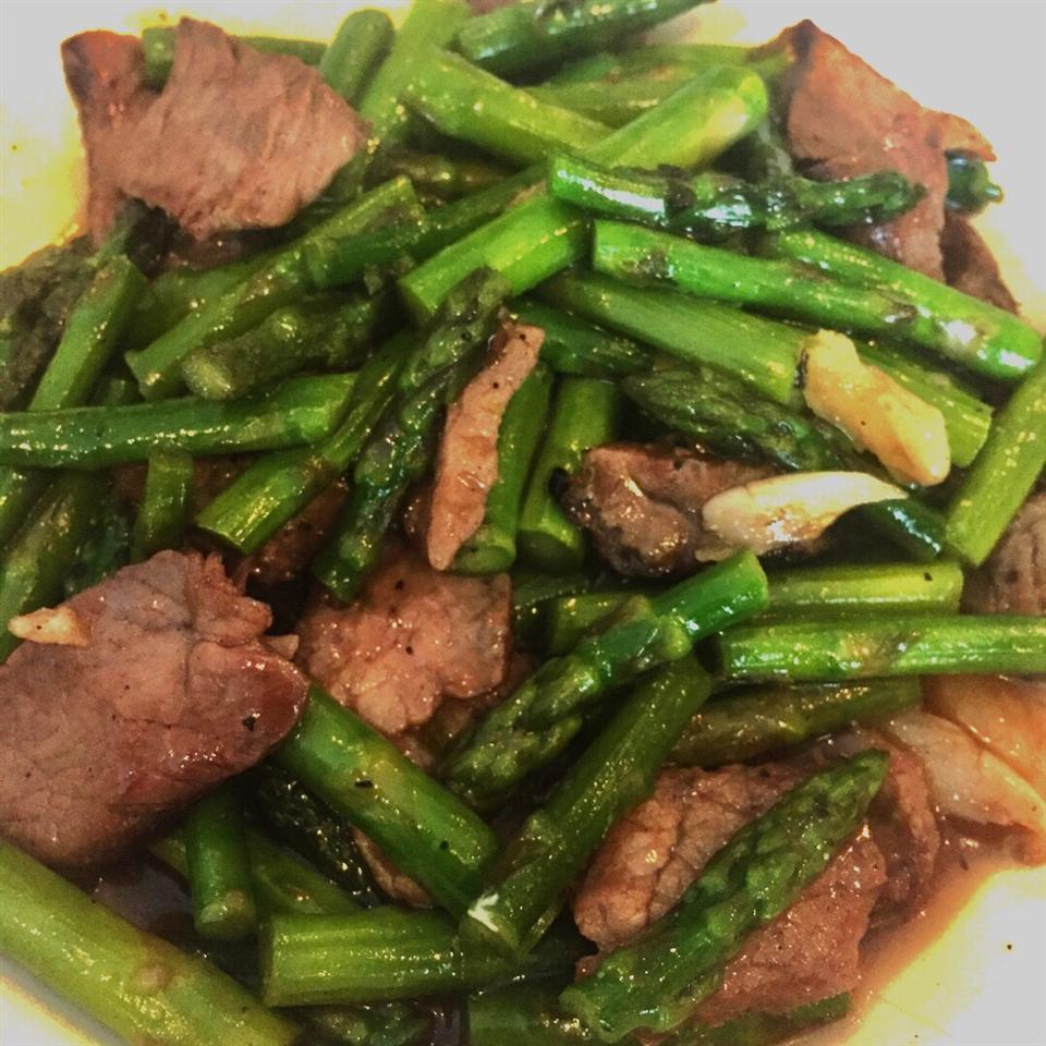 Stir Fried Asparagus Penprapha Boonpoon