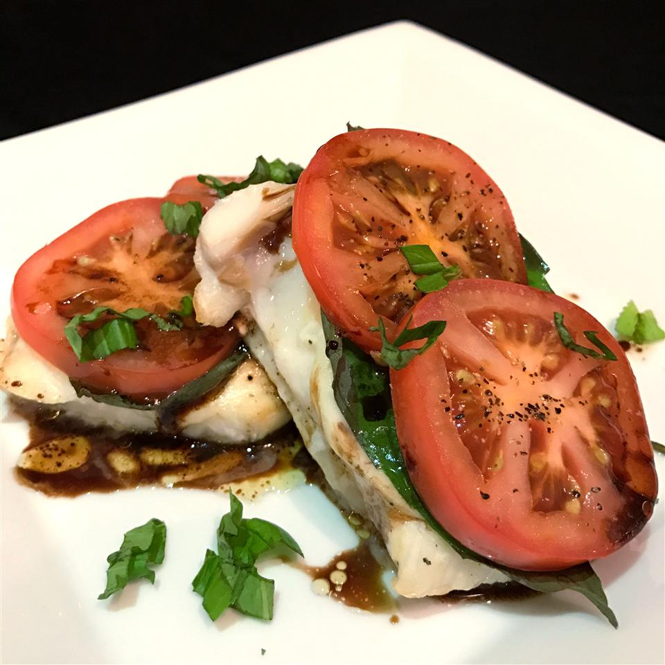 Alaskan Halibut Caprese Happyschmoopies