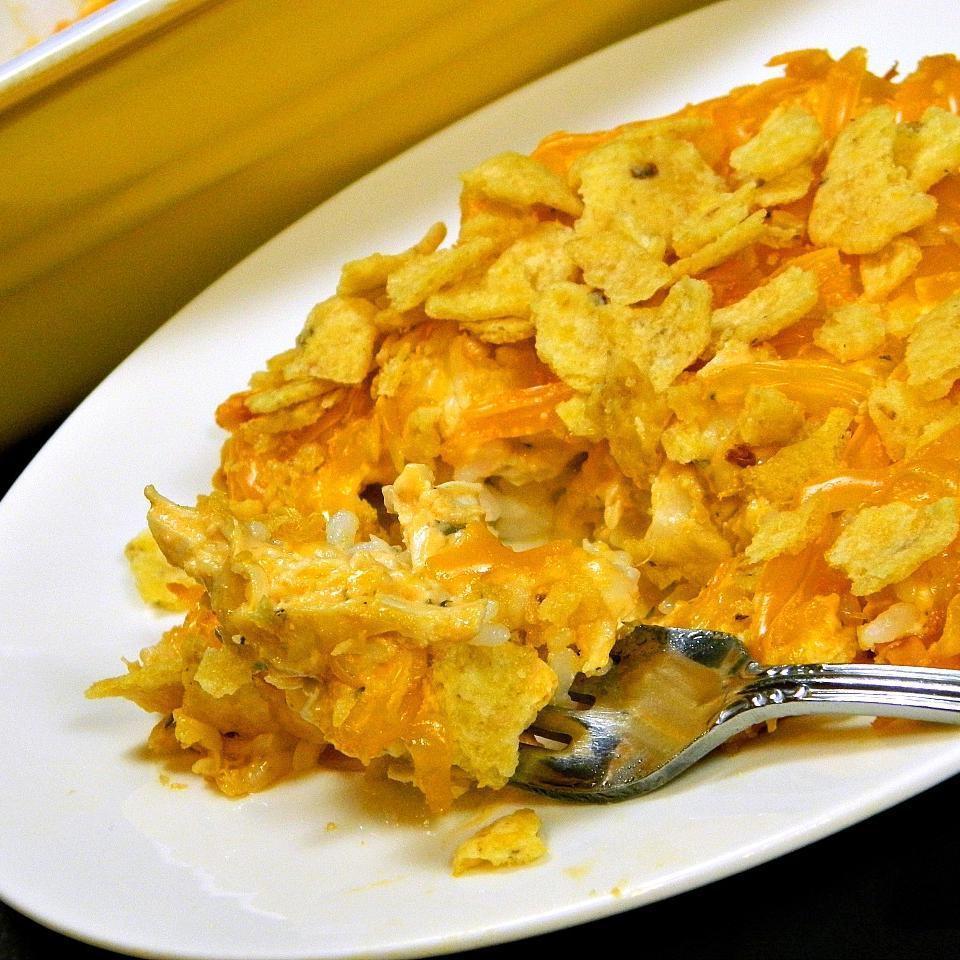 Cheesy Buffalo Chicken Casserole