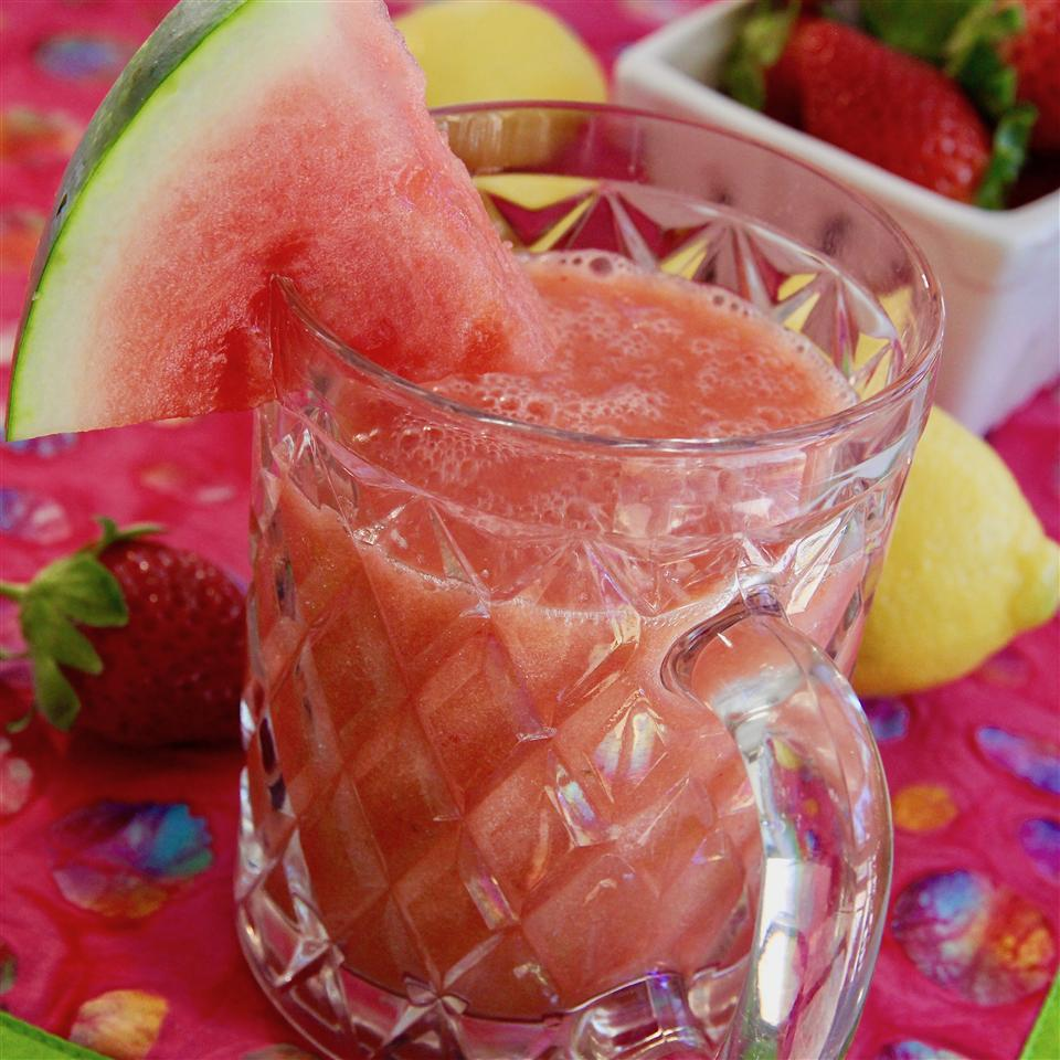 Watermelon Strawberry Mango Lemonade Smoothie