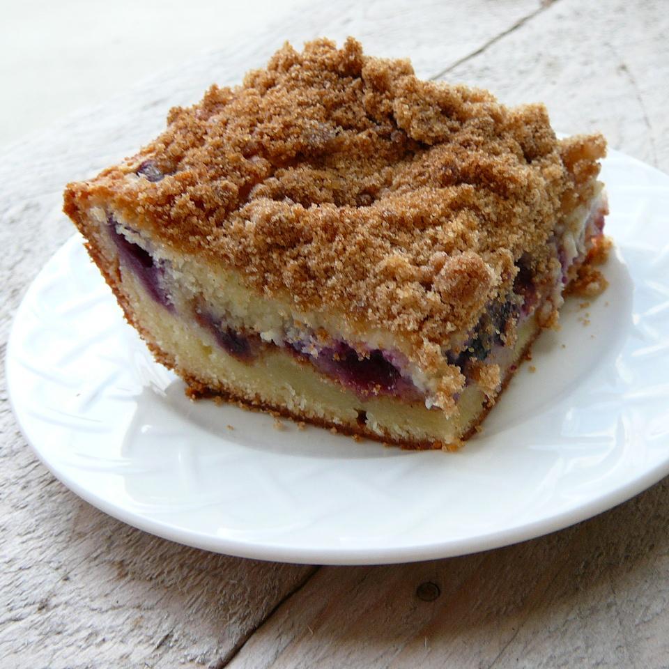 Sour Cream Blueberry Coffee Cake Molly